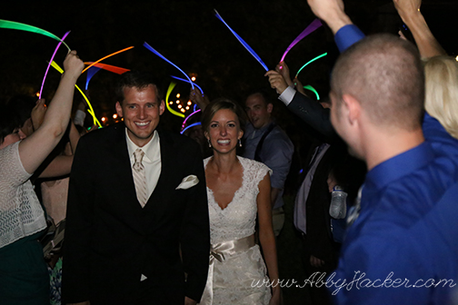 Wedding Glow Stick Exit